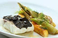 牛油煮法國野生鱸魚配黑松露片