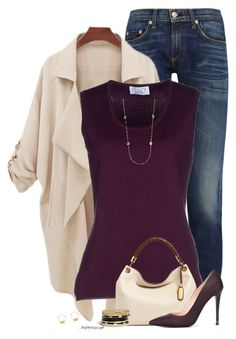 Fall Outfit by houston555-396 on Polyvore featuring polyvore, fashion, style, Musani, rag & bone, Fendi, Michael Kors, GUESS, Saks Fifth Avenue and Wouters & Hendrix