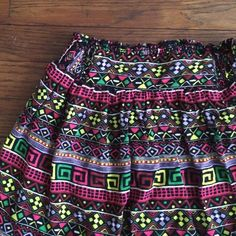 Tribal print skirt! Perfect for music Festival! Such a fun piece & can be worn so many different ways! Shirt tucked in or out & flowy or with a crop top! Black lining slip inside. From Forever 21's Xxi line Forever 21 Skirts Circle & Skater