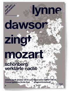Studio Dumbar: Amsterdam Sinfonietta Visual Identity & Posters