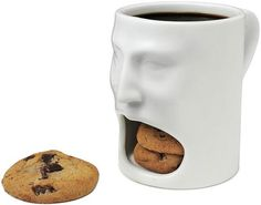 FACE MUG from UncommonGoods. Shop more products from UncommonGoods on Wanelo. Cookie In A Mug, Cookie Cups, Cookie Time, Smart Cookie, Cookie Dough, Tea Mugs, Coffee Mugs, Drinking Coffee, Coffee Lovers