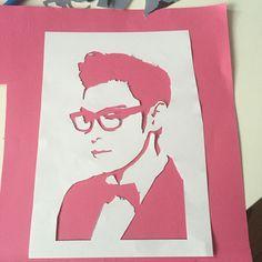 T.O.P in stencil style <3 #TOP #BigBang #stencil #art