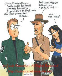 Leah Rosenthal Stargate SG-1/Indiana Jones cartoon...http://cartoons.ashtonpress.net/