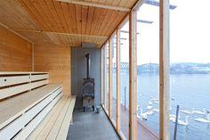 Fotogalerie: Lázně na lodi jsou projektem z dílny studia architekti. Saunas, Nice View, Prague, Tours, Cool Stuff, Furniture, Sauna Ideas, Design, Home Decor
