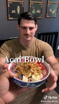 Acai Bowl Recipes Healthy, Acai Recipes, Healthy Smoothies, Healthy Meal Prep, Healthy Snacks, Health Recipes, Lunch Recipes, Dinner Recipes, Acai Bowl Recipe Video