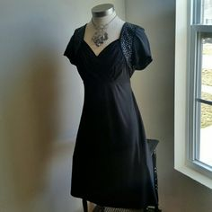 $32..R&M RICHARDS....BEAUTIFUL BLACK BEAD.DRESS ...GREAT CONDITION ...... ...NORMAL WEAR ...NO FLAWS ...BEAUTIFUL  ...true to its size and color  ...BETTER IN PERSON  ...WILL BE CHANGING PICTURES SOON  ...TO SHOW ITS TRUE BEAUTY...BETTER IN PERSON  ...2 pic up close ...ruched ...chest front  ...beautiful deco. .. ...Deco black gems...front ...tie round. ..waist line.. ...comfortable. .. ....MTRL....adding soon.. ....LENGTH. ..adding soon ....better in person.... R&M..RICHARD'S  Dresses