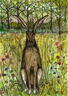 he Evasive Hare A lovely painting of a spring hare.