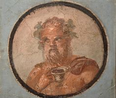 Fresco in the Fourth Pompeian Style with portraits set in medallions with blue background, from the exedra of the House of the Mosaic Atrium, 50-79 AD, Empire of colour. From Pompeii to Southern Gaul, Musée Saint-Raymond Toulouse | Flickr - Photo Sharing!