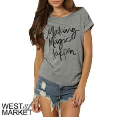 -NEW ARRIVAL-  Making Magic Happen Tee PLEASE COMMENT TO BUY THIS LISTING with the SIZE you would like, I will make a separate listing for you! West Market SF Tops Tees - Short Sleeve