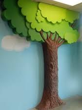 Signs By Benchmark faux tree at kids zone – Gardening for beginners and gardening ideas tips kids Decoration Creche, Decoration Buffet, Kids Church Rooms, Church Nursery, Diy And Crafts, Crafts For Kids, Paper Crafts, Cardboard Tree, Sunday School Rooms