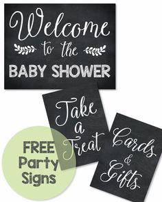 free printable baby shower signs - Print It Baby