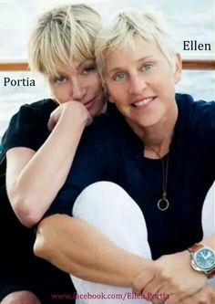 Ellen y Portia ⭐⭐ Ellen Tv, The Ellen Show, Ellen Degeneres And Portia, Ellen And Portia, Portia De Rossi, Famous Couples, Beautiful Love, Gal Gadot, Celebs