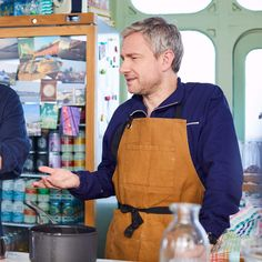 This is what I'm totally expecting to find when I walk into my kitchen for my Christmas Eve Eve/Festivus baking frenzy. Cooking Games For Kids, Cooking For A Group, New Cooking, Cooking Tips, Cooking Steak, How To Cook Rice, How To Cook Steak, Martin Freeman, Sherlock Bbc