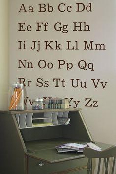 Typed Alphabet