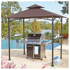 design ideas patio stylish tents bbq with walmart captivating big rooftop improvement lots gazebo brown canopies double grill plus wheat enhance wondrous chairs outdoor at for exterior