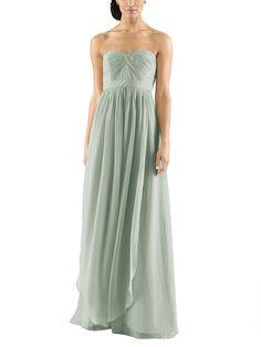 DescriptionJenny Yoo AidanFulllength bridesmaid dressStrapless, pleated sweetheartnecklineConvertible style with long chiffon panelsNatural waistlineLuxe chiffon