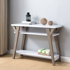 Shop for Furniture of America Shenera Contemporary White/Distressed Oak Open Console Table and more for everyday discount prices at Overstock.com - Your Online Furniture Store!
