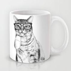 Mac Cat Coffee Mug by florever - 11 oz Best Coffee Mugs, Cat Coffee Mug, Unique Coffee Mugs, Cat Mug, Tea Mugs, Crazy Cat Lady, Crazy Cats, Cat Cookie Jar, Cookie Jars