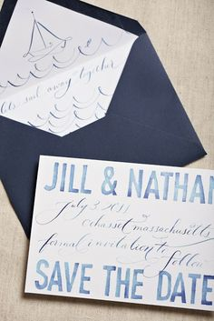 """""""let's sail away"""" save the dates  Love, Jenna: Fab Collab with Swiss Cottage Designs"""
