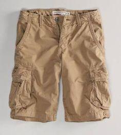 Men's Summer Solid Big Pockets Loose Casual Cotton Cargo Shorts ...