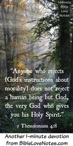 Sometimes we don't realize how tragic it is when we fail to share God's loving warnings with others. Everything God does is good and loving and this 1-minute devotion explains our need to conform to God,not our culture.