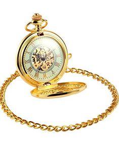Luxury Golden Luminous Men's Mechanical Pocket Watch Chain Gift for sale online Mechanical Pocket Watch, Watch Tattoos, Retro Watches, Gold Chains For Men, Pocket Watch Antique, Luxury Watches For Men, Watch Sale, Gold Watch, Classic Series