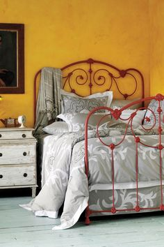 scrollwork bed + Enes Duvet from Anthropologie.com