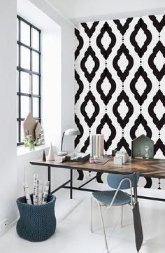 Damask Geometric Pattern Self Adhesive Vinyl Wallpaper Z060