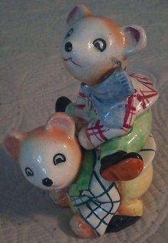Vintage Japan Leap Frog Bear Salt and Pepper Shakers EUC | eBay