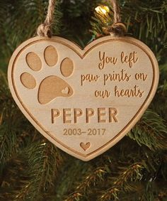 Look what I found on #zulily! Pet Memorial Personalized Ornament #zulilyfinds