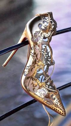 Christian Louboutin's Impera pumps - steampunk inspired