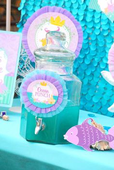 Mermaid Birthday - CANDY JAR LABELS - Princess Party - Girl Birthday - Mermaid Party- Mermaid Printables - INSTANT Download