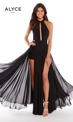 84465e43bce 59999 High Low Gown, High Low Prom Dresses, Top Wedding Dresses, Black Prom