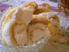 Egy kanál cukor: Habos dióskifli Snack Recipes, Snacks, Cakes And More, Chips, Food And Drink, Ice Cream, Sweets, Cukor, Snack Mix Recipes