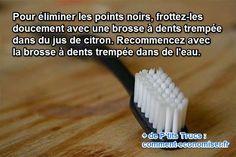 Décidément, vous avez tout essayé pour éviter l'apparition des points noirs, et les voilà qui débarquent sur votre menton. J'ai une solution radicale à vous suggérer. L'avantage, c'est que vous avez forcément ce qu'il faut sous la main : une brosse à dents.  Découvrez l'astuce ici : http://www.comment-economiser.fr/eliminer-points-noirs-brosse-dents.html?utm_content=buffer1b1cf&utm_medium=social&utm_source=pinterest.com&utm_campaign=buffer