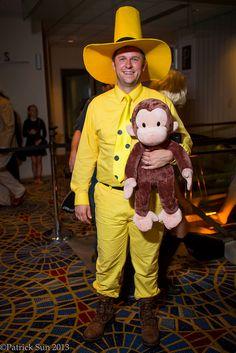 Man in the Yellow Hat | Dragon*Con 2013. View more EPIC cosplay at http://pinterest.com/SuburbanFandom/cosplay/... #Costume #Ideas #Cosplay #DragonCon #Atlanta #Halloween