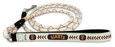 San Francisco Giants Baseball Leather Leash - L