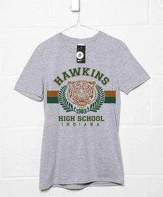 Hawkins High School T shirt - Sport Grey / Large