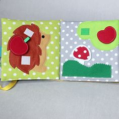quiet book fabric activity book busy book montessori toddler activity book toddler gift waldorf toy kids cloth books color matching