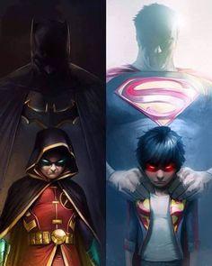 Super Sons #1 variant by Francesco Mattina