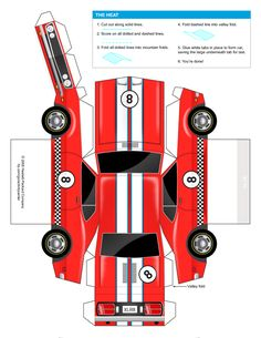 car cut out template for kids - Google Search
