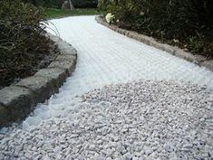 Bauzentrum Beckmann: Kies- u. Gravel Driveway, Driveway Landscaping, Outdoor Landscaping, Decorative Gravel, Path Ideas, Black And White Interior, Surf Shack, Garden Plants, Garden Design