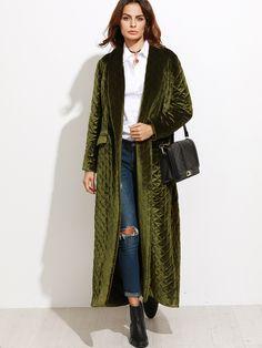 outer161007702_2 Modest Fashion, Fashion Outfits, Look 2018, Cold Weather Fashion, Velvet Fashion, Autumn Winter Fashion, Plus Size Fashion, Fall Outfits, Kaftans