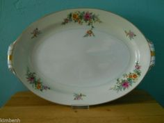 Vintage! Large Oval Serving Platter Merivale pattern by Narumi  #Narumi