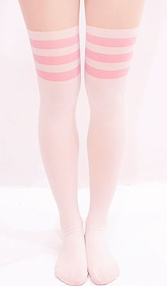 Blippo Kawaii Shop ♥ Cute Japanese gifts, candy, stationery & accessories with Free international shipping! Pastel Fashion, Kawaii Fashion, Lolita Fashion, Cute Fashion, Fashion Outfits, Thigh High Socks, Thigh Highs, White Knee High Socks, Knee Highs