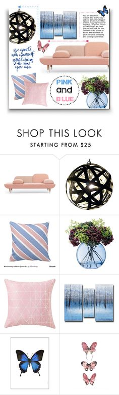 """""""Pink And Blue"""" by ice-mug ❤ liked on Polyvore featuring LSA International, Liljebergs, women's clothing, women's fashion, women, female, woman, misses, juniors and pinkandblue"""
