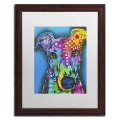 "Trademark Art ""What Ya Thinking Bout?"" by Dean Russo Matted Framed Painting Print Size: 20"" H x 16"" W x 0.5"" D"