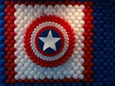 Captain America Wall - made with balloons