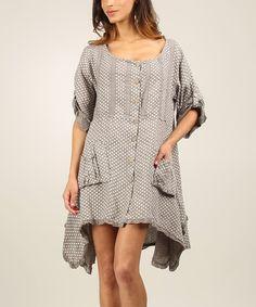 Mole Laura Linen Button-Up Dress | zulily