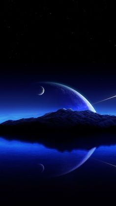nightly journey, universe, planets, Space
